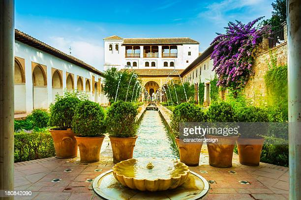 alhambra gardens - granada spain stock pictures, royalty-free photos & images