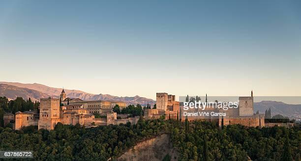 Alhambra in Granada at twilight.