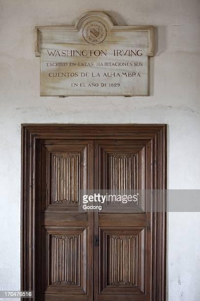 Alhambra Nasrid Palaces Palacio de los Leones Washington Irving's appartments Grenada Spain