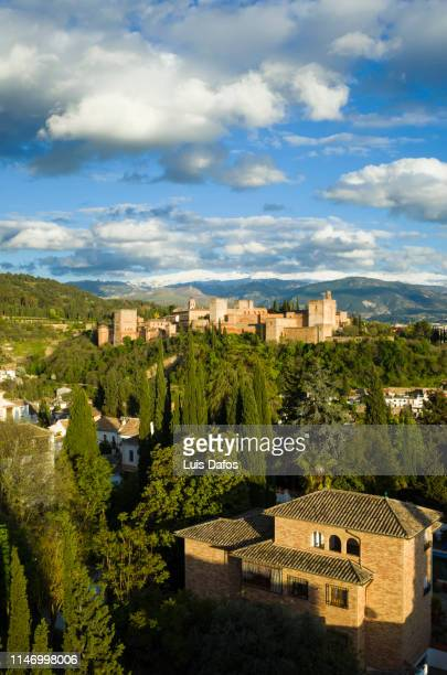 alhambra palace and albaicin district - granada spain stock pictures, royalty-free photos & images