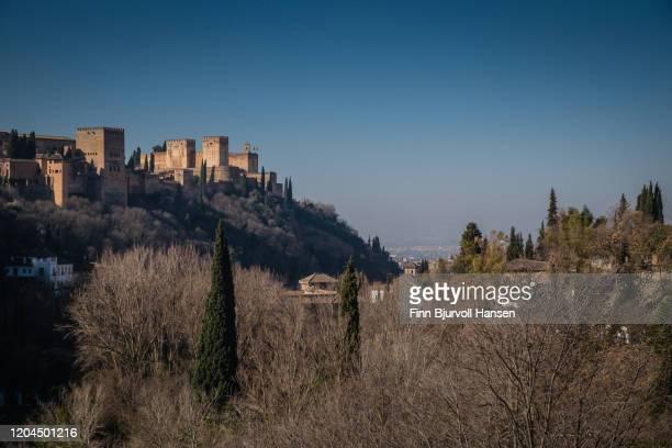 alhambra palace in granada, andalucia, spain - finn bjurvoll stockfoto's en -beelden