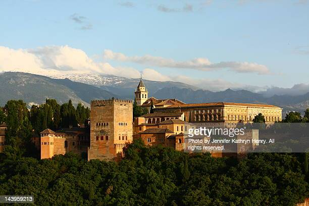 alhambra palace - granada spain stock pictures, royalty-free photos & images