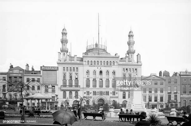 Alhambra Theatre, Leicester Square, Westminster, London 1870-1882. Wet collodion glass plate negative. The Alhambra in London's Leicester Square was...