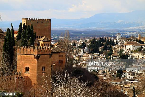 Alhambra towers and Albaicin view Granada Spain