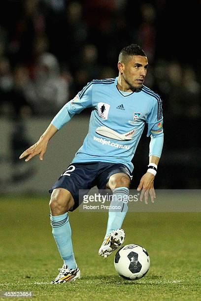 Ali Abbas of Sydney controls the ball during the FFA Cup match between Melbourne City and Sydney FC at Morshead Park Stadium on August 12 2014 in...