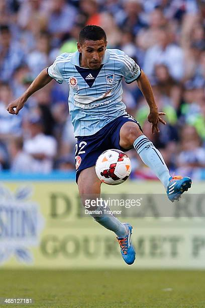 Ali Abbas of Sydney controls the ball during the round 16 ALeague match between Melbourne Victory and Sydney FC at Etihad Stadium on January 26 2014...