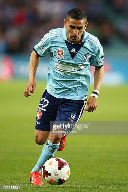 Ali Abbas of Sydney controls the ball during the round eight ALeague match between Sydney FC and the Newcastle Jets at Allianz Stadium on November 30...