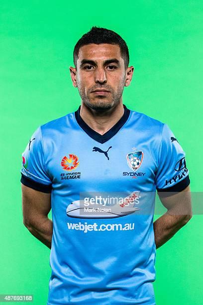 Ali Abbas poses during the Sydney FC 2015/16 ALeague headshots session at Fox Sports Studios on September 11 2015 in Sydney Australia