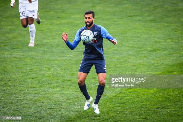 Ali ABDI of Paris FC during the Ligue 2 match between Paris FC and Troyes at Stade Charlety on April 10, 2021 in Paris, France.