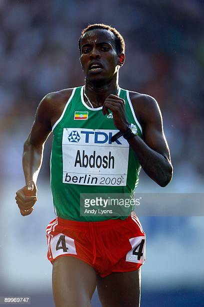 Ali Abdosh of Ethiopia competes in the men's 5000 Metres Heats during day six of the 12th IAAF World Athletics Championships at the Olympic Stadium...