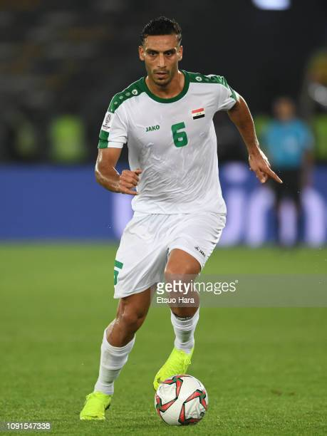 Ali Adnan AlTameemi of Iraq in action during the AFC Asian Cup Group D match between Iraq and Vietnam at Zayed Sports City Stadium on January 08 2019...