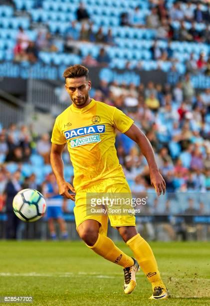 Ali Adnan Kadhim of Udinese Calcio shoots a penalty and scores goal during the Pre Season Friendly match between Celta de Vigo and Udinese Calcio at...