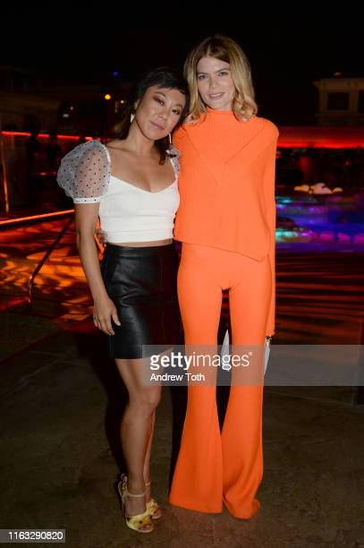 Ali Ahn and Emma Greenwell attend Entertainment Weekly's ComicCon Bash held at FLOAT Hard Rock Hotel San Diego on July 20 2019 in San Diego...