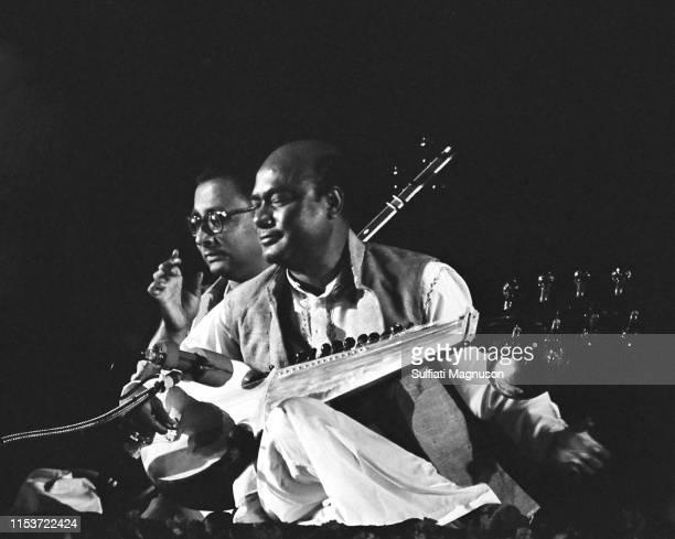 Ali Akbar Khan and Nikhil Banerjee performing at the Santa Monica Civic Auditorium in 1968 in Santa Monica California