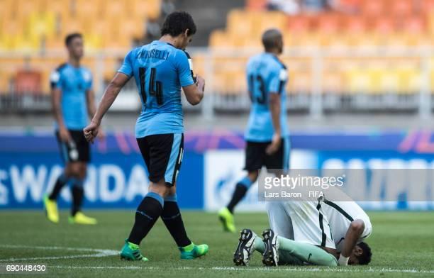 Ali Alasmari of Saudi Arabia is seen dejected on the pitch after loosing the FIFA U20 World Cup Korea Republic 2017 Round of 16 match between Uruguay...
