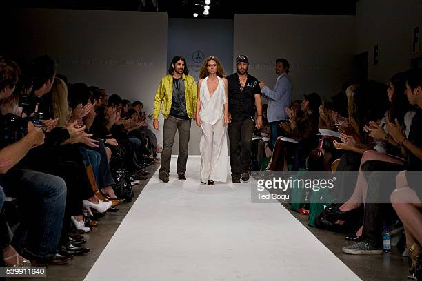 Ali Alborzi a model and Andrew McCarthy walk the runway after the presentation of the Evidence of Evolution 2008 spring collection at Smashbox...