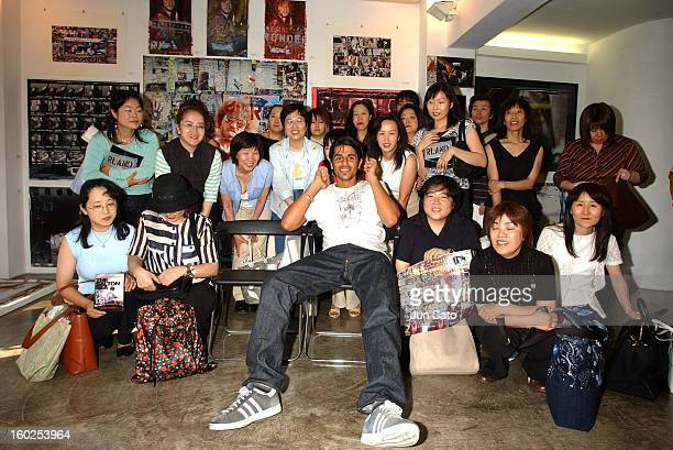 Ali Alborzi and fans during Val Kilmer 'Wonderland' Exhibit in Tokyo at Gallery 360 Degrees in Tokyo Japan