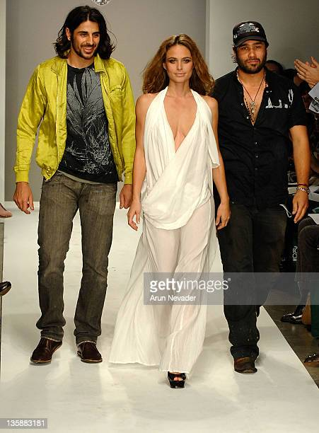 Ali Alborzi Josie Maran and Andrew McCarthy walk the runway at The Evidence of Evolution Spring 2008 fashion show during Mercedes Benz Fashion Week...