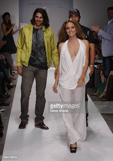 Ali Alborzi Josie Maran and Andrew McCarthy walks the runway at the Evidence of Evolution Spring 2008 fashion show during Mercedes Benz Fashion Week...