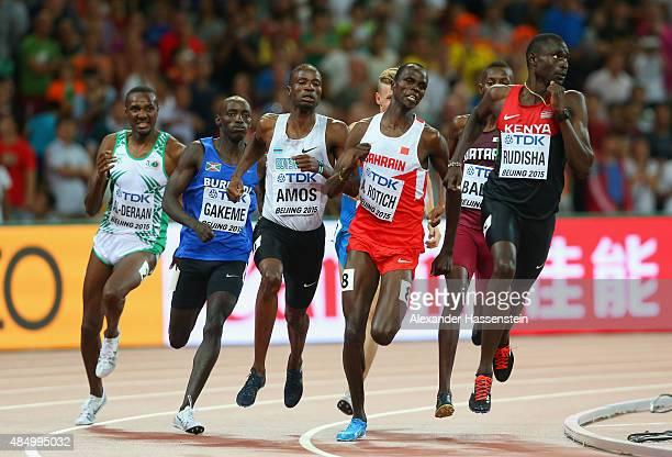 Ali Al-Deraan of Saudi Arabia, Antoine Gakeme of Burundi, Nijel Amos of Botswana, Abraham Kipchirchir Rotich of Bahrain and David Lekuta Rudisha of...