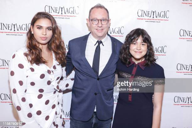 Ali Alejandra, Jason Farrand and Gracy Samuel attend the 30th Anniversary Of The CineMagic Charity Gala at The Fairmont Miramar Hotel & Bungalows on...