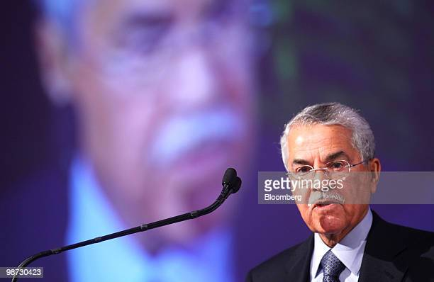 Ali AlNaimi minister of petroleum and mineral resources of Saudi Arabia speaks during the USSaudi Business Opportunities Forum in Chicago Illinois US...