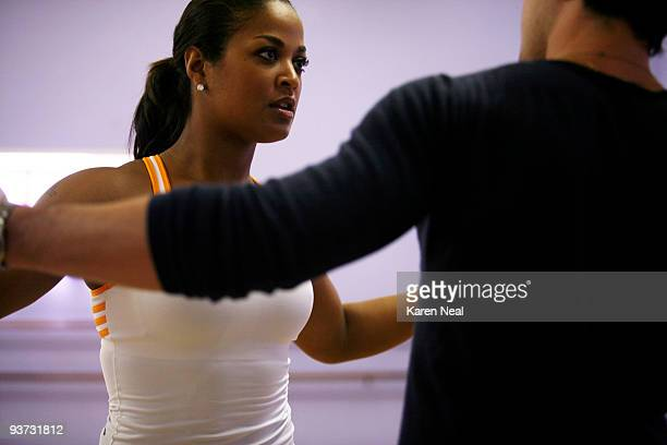 ALI Ali an undefeated world champion female boxer and youngest daughter of sports legend Muhammad Ali takes her footwork to the ballroom dance floor...