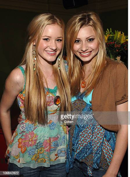 Ali and AJ during Jesse McCartney in Concert at the Gibson Amphitheater in Los Angeles Backstage and Show July 10 2005 at Gibson Amphitheater on...