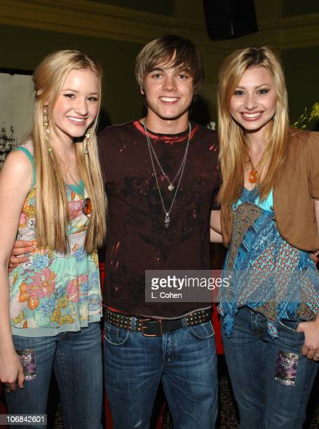 Ali and AJ with Jesse McCartney during Jesse McCartney in Concert at the Gibson Amphitheater in Los Angeles Backstage and Show July 10 2005 at Gibson...