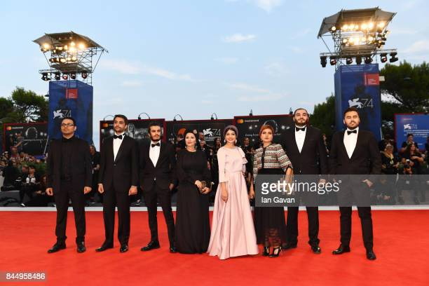 Ali Asgari Pouria Heidary Amirreza Ranjbaran Farnoosh Samadi Sadaf Asgari and Mohammad Heidari arrive at the Award Ceremony during the 74th Venice...