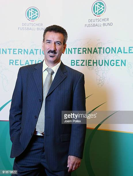 Ali Askar Lali poses during the DFB Comments On International Activities on October 14 2009 in Hamburg Germany