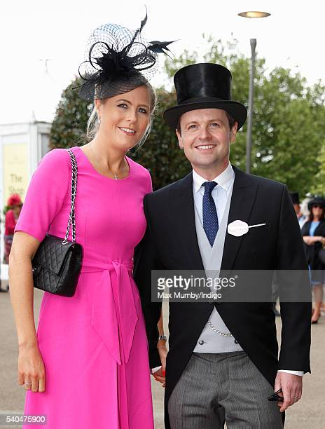 Ali Astall and Declan Donnelly attend day 2 of Royal Ascot at Ascot Racecourse on June 15 2016 in Ascot England
