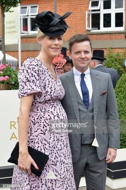 Ali Astall and Declan Donnelly attend day 2 of Royal Ascot at Ascot Racecourse on June 20 2018 in Ascot England