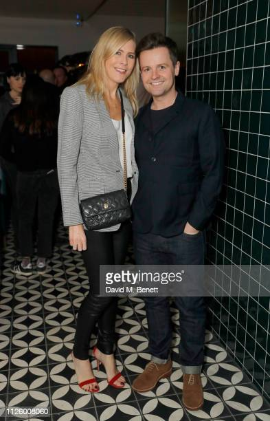Ali Astall and Declan Donnelly attend Mollie's Motel Diner Opening Party on January 29 2019 in Buckland Oxfordshire England