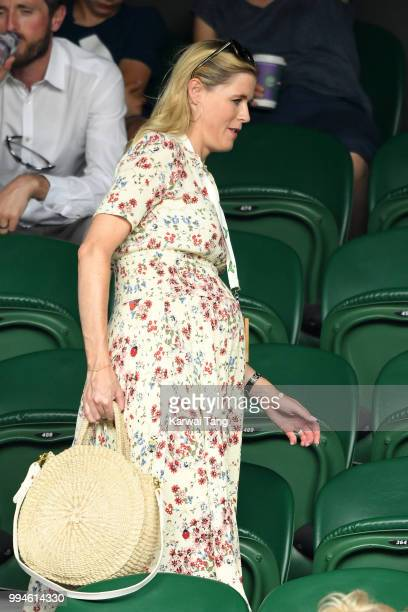 Ali Astall attends day seven of the Wimbledon Tennis Championships at the All England Lawn Tennis and Croquet Club on July 9 2018 in London England