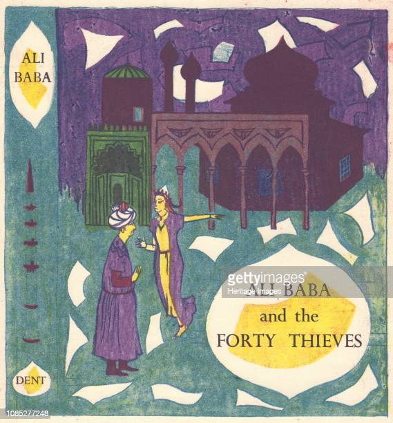 Ali Baba and the Forty Thieves' circa 1950 Book cover design Artist Shirley Markham