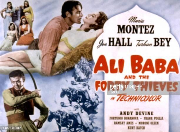 Ali Baba And The Forty Thieves lobbycard Turhan Bey Jon Hall Maria Montez 1944