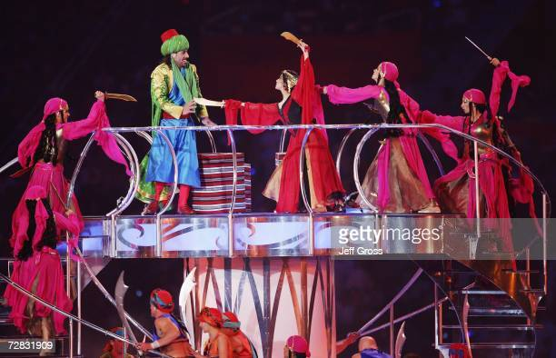 Ali Baba and the Forty Thieves perform during the Closing Ceremony of the 15th Asian Games Doha 2006 at the Khalifa Stadium on December 15 2006 in...