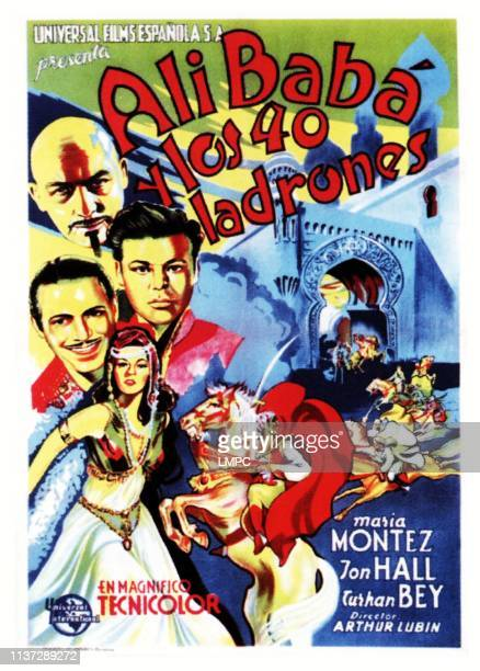 Ali Baba And The Forty Thieves poster bottom left Maria Montez on Spanish poster art 1944