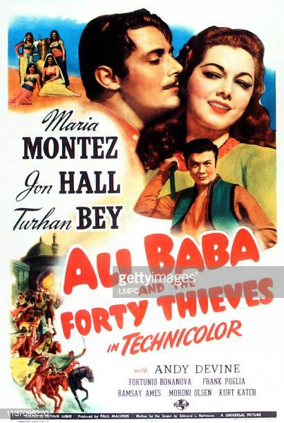 Ali Baba And The Forty Thieves poster top right clockwise Jon Hall Maria Montez Turhan Bey 1944