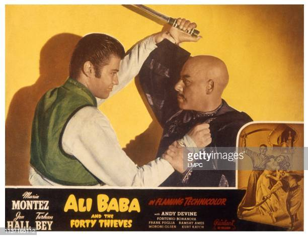 Ali Baba And The Forty Thieves US lobbycard from left Turhan Bey Kurt Katch 1944