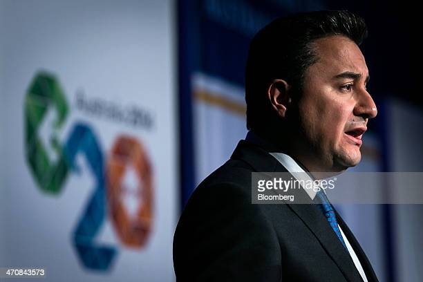Ali Babacan Turkey's deputy prime minister speaks during an Institute of International Finance conference ahead of a Groupof20 Finance Ministers and...