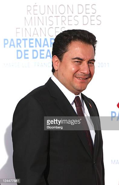 Ali Babacan Turkey's finance minister arrives for the meeting of the G7 finance ministers and members of the Deauville Partnership in Marseille...