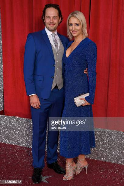 Ali Bastian and a guest attend the British Soap Awards at The Lowry Theatre on June 01 2019 in Manchester England