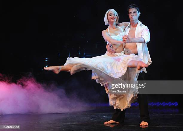 Ali Bastian and Brian Fortuna perform during photocall for their upcoming dance show 'Burn The Floor' at Shaftesbury Theatre on July 23 2010 in...