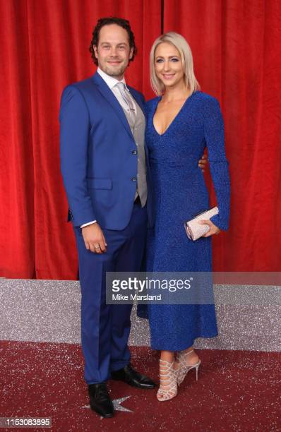 Ali Bastian and David O'Mahoney attend the British Soap Awards at The Lowry Theatre on June 01 2019 in Manchester England