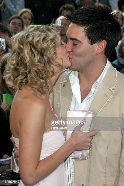 Ali Bastian and Kevin Sacre during 2005 British Soap Awards Arrivals at BBC Television Centre in London Great Britain