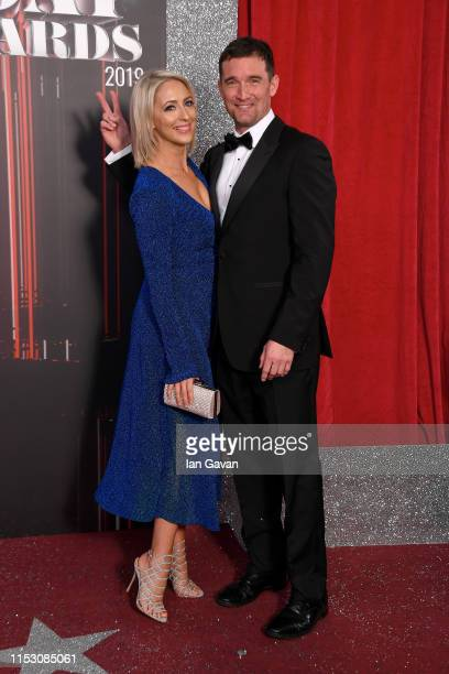 Ali Bastian and Matthew Chambers attend the British Soap Awards at The Lowry Theatre on June 01 2019 in Manchester England