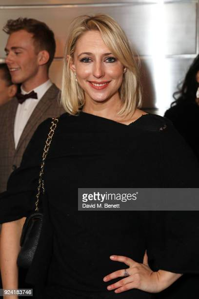 Ali Bastian attends the 18th Annual WhatsOnStage Awards at the Prince Of Wales Theatre on February 25 2018 in London England