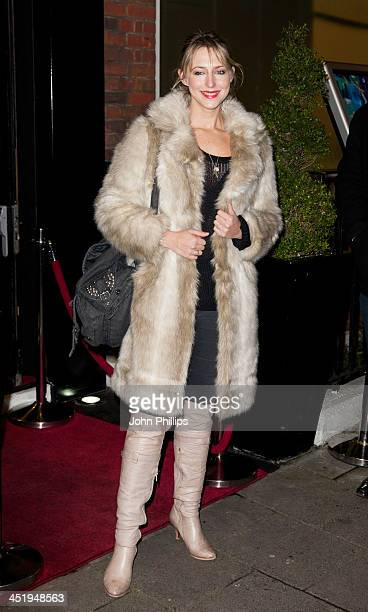 Ali Bastian attends the Gift of Confidence party hosted by make up artist Karen Betts at Vanilla on November 25 2013 in London England